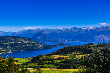 Øystese, a beautiful gem in the Hardanger Fjord in western Norway.