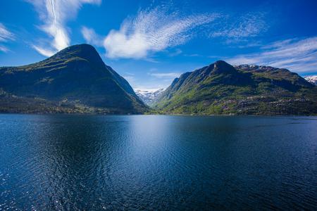 hardanger: West Norwegian fjord landscape a beautiful summer day
