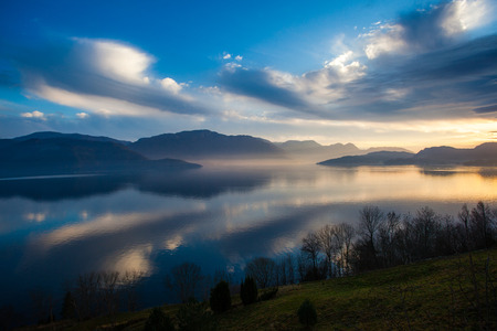 hardanger: Kvam in Hardanger fjord, Norway, in a fascinating light Editorial