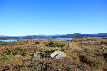A beautiful autumn landscape west in Norway.