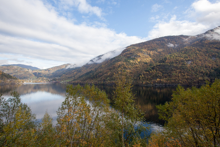 Beautiful autumn landscape in western Norway