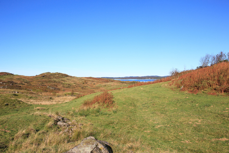 Beautiful autumn landscape in western Norway