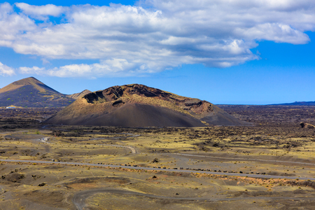 Beautiful colors in the volcanic landscape of Lanzarote.