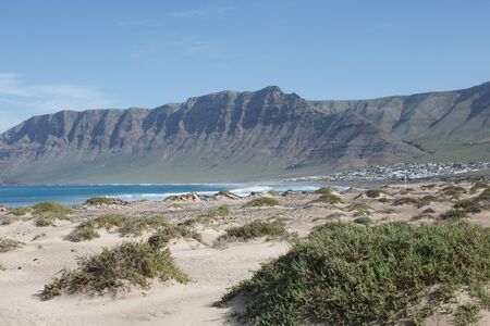 Surf Beach Famara on Lanzarote.