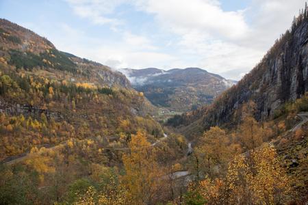 Beautiful autumn landscape on western Norway Standard-Bild