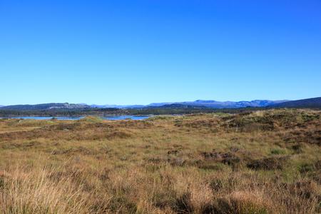 Beautiful autumn landscape in western Norway.