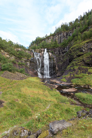A waterfall near Voss in Norway.