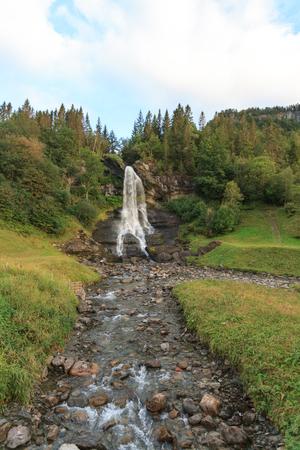The waterfall, Steinsdalsfossen in Norheimsund, Norway.
