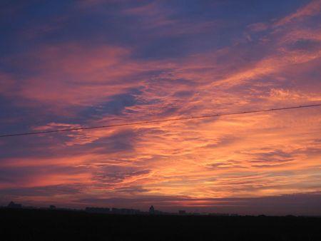 a landscape of daybreak Stock Photo - 3919385