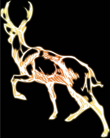 simple drawing of a deer with vector effect Illustration