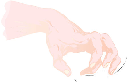 truncated: the truncated human hand is like paw Illustration