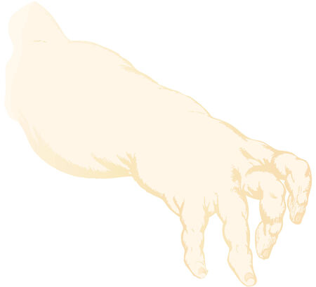 suckling: la mano di un bambino di suzione troncata