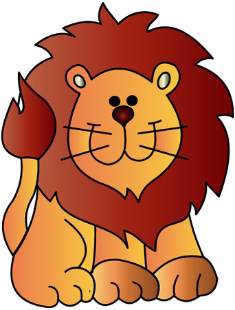 the cute vector drawing of a lion Illustration