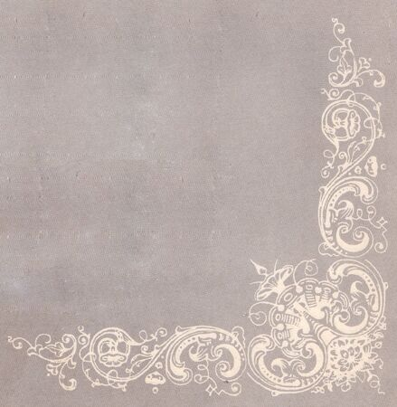 old-fashioned ornate tracery in the form of a corner