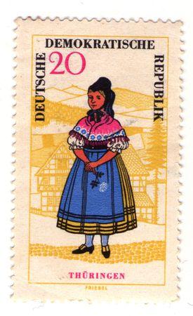 republik: the postage stamp of Deutsche Demokratische Republik