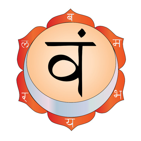 the   draw of The Sacral Chakra Stock Vector - 8140510