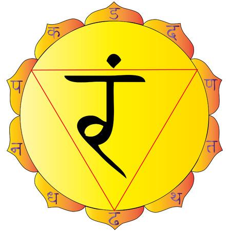 hinduismo: el sorteo de la de Solar Plexus de chakra