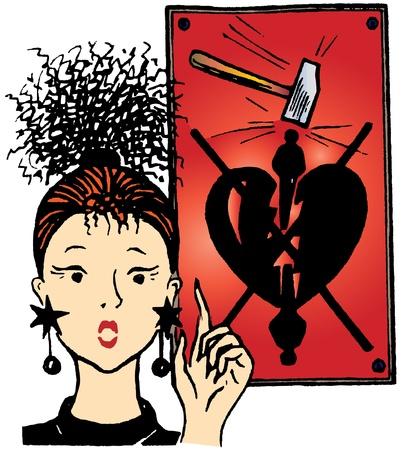 broken heart Stock Vector - 9528267
