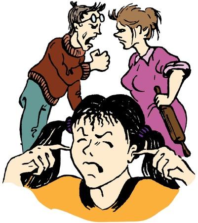 problemas familiares: problemas familiares Vectores