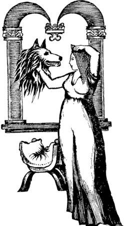 temperament: wolf Illustration