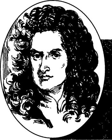 Sir Isaac Newton Vector