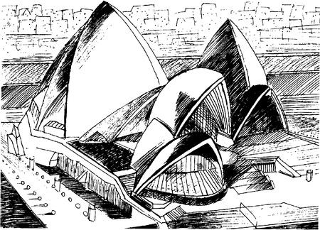 the Sydney Opera House Illustration