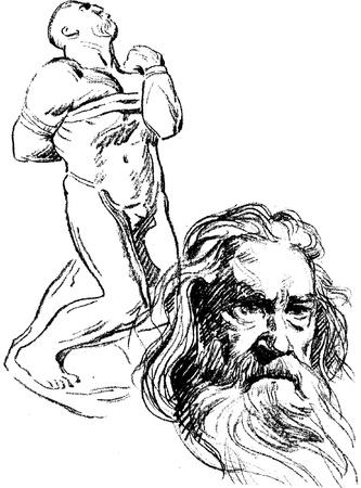 art sketches Stock Vector - 14463591
