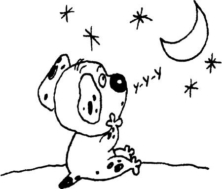 sad dog: sad dog Illustration