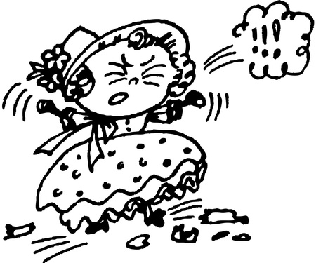 annoyance: female in a temper