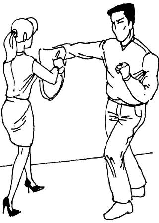 defensa personal: autodefensa Vectores