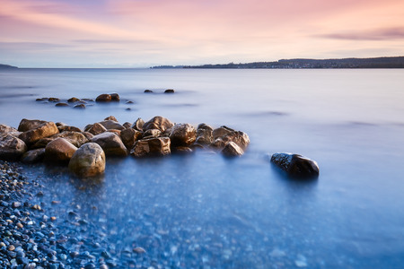 Rock stones on the shores of Lake Constance