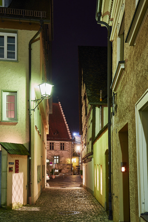 Ãœberlingen Old Town at the Blue Hour
