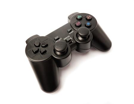 ビデオゲームのための黒のゲームパッド 写真素材