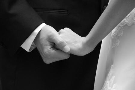 신부와 신랑 보여주는 애정