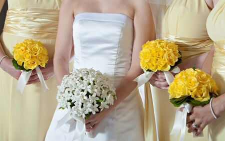 Wedding with White and Yellow Flowers photo