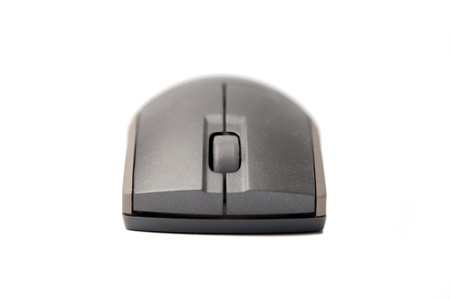 Gray Computer Mouse isolated on white background