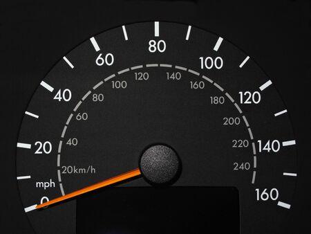 Black Speedometer with Orange Needle