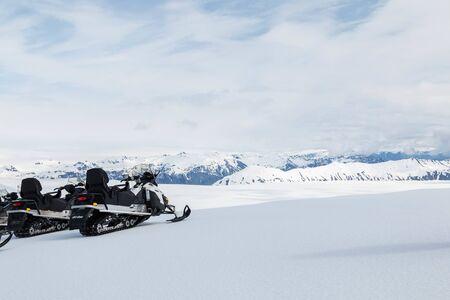 Snowmobile tour on Vatnaj?kull glacier in iceland