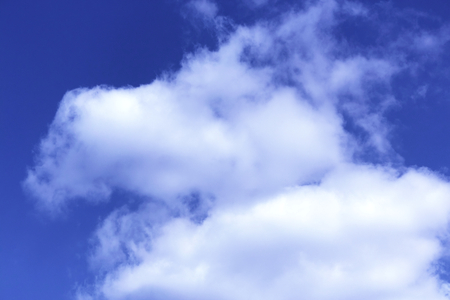clouds with blue sky background. Nature weather, cloud blue sky