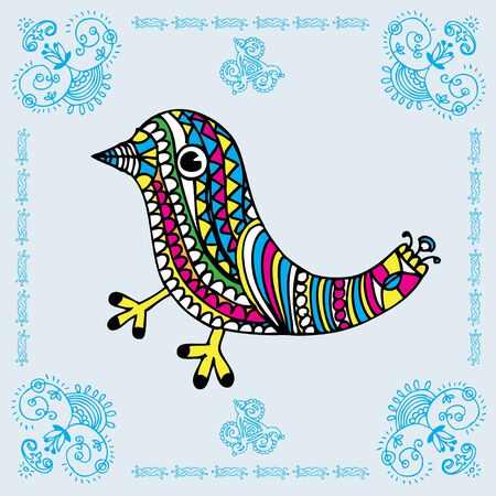 Love Bird Decorative Card  Vector