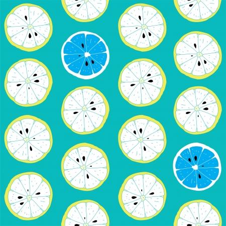 Fresh Seamless Citrus Pattern With Lemon s Pieces  Illustration