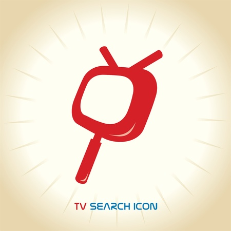 research education: TV Search Icon