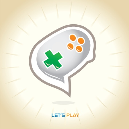 Joystick Chat Symbol  Vector