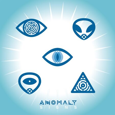Space UFO Anomaly Icons Stock Vector - 15303943