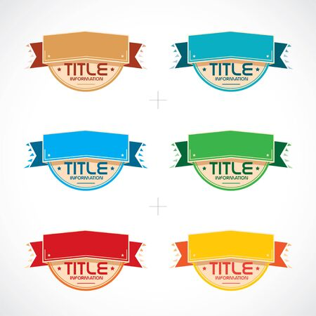 Set of Colorful Frames, Stickers, Labels Stock Vector - 15521526