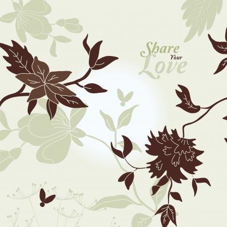 plant seed: Love Flowers Elegant Card in Japanese Style