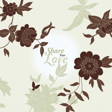 Liefde Bloemen Elegant Card in Japanse Stijl