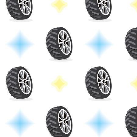 Seamless Pattern With Wheels Stock Vector - 15476473