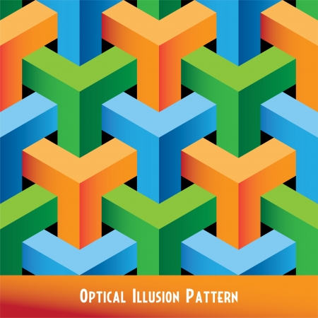 Abstract Optical Illusion Seamless Pattern Vector