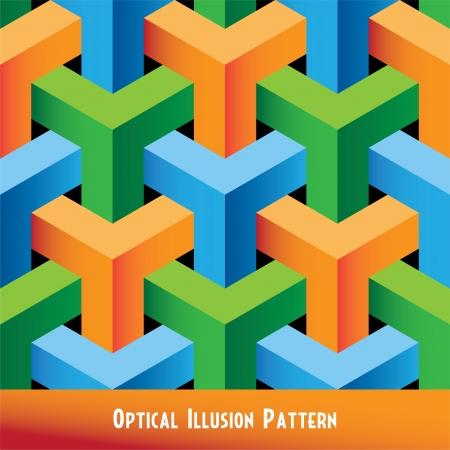 optical art: Patr�n abstracto sin fisuras Optical Illusion Vectores